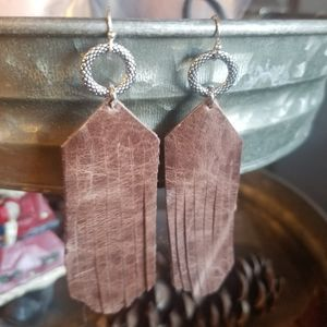 Jewelry - Real leather earrings